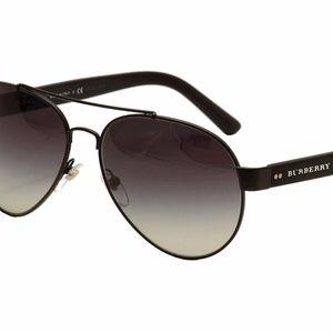 NWT Auth Burberry BE3086 Pilot Fashion Sunglasses